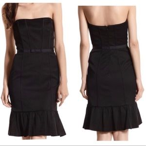 White House Black Market Strapless Dress Black